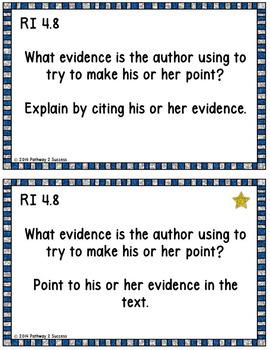 4th Grade Reading Comprehension Common Core Task Cards
