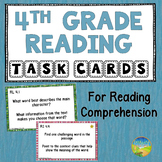 4th Grade Reading Comprehension Common Core Task Cards
