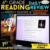 4th Grade Reading Comprehension   Google Classroom Distanc