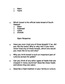 4th Grade Reading Comprehension Packet Multiple Choice and Open Response