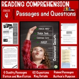 4th Grade Reading Comprehension Passages and Questions