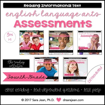 4th Grade • Reading Comprehension Passages and Questions • RL I & II • Bundle