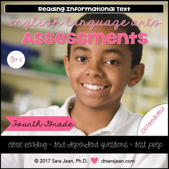 4th Grade • Reading Comprehension Passages and Questions • RL I & II • Set 2