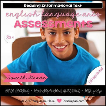 4th Grade • Reading Comprehension Passages and Questions • RL I & II • Set 4