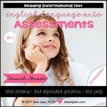 4th Grade • Reading Comprehension Passages and Questions • RL I & II • Set 5