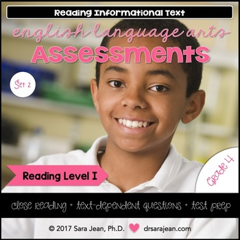 4th Grade • Reading Comprehension Passages and Questions • RL I • Set 2