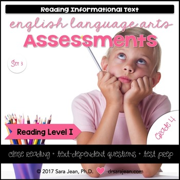 4th Grade • Reading Comprehension Passages and Questions • RL I • Set 3