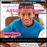 4th Grade • Reading Comprehension Passages and Questions • RL I • Set 4