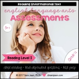 4th Grade • Reading Comprehension Passages and Questions • RL I • Set 5