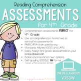 4th Grade Reading Comprehension Tests Digital Classroom