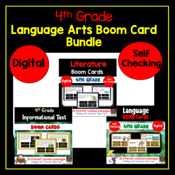 4th Grade Reading Digital Boom Cards