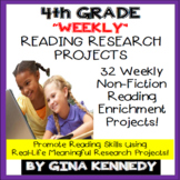 4th Grade Reading Enrichment, Weekly Research Projects For the Entire Year!