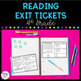 4th Grade Reading Exit Tickets with Google Forms for Dista