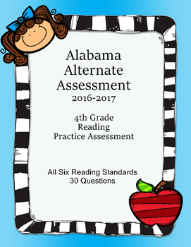 4th Grade Reading Extended Standards Practice Test Alabama