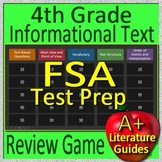 4th Grade FSA Test Prep Reading Informational Text and Non-Fiction Review Game
