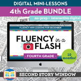4th Grade Reading Fluency in a Flash GROWING Bundle • Digi