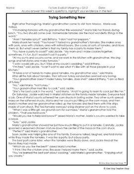 4th Grade Reading Review 4th Grade Reading Homework 4th Grade Morning Work FREE