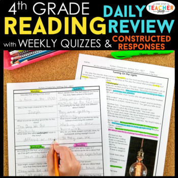 4th Grade Reading Homework or Morning Work | 4th Grade Reading Comprehension