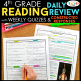 4th Grade Reading Spiral Review | Distance Learning Packet Reading Comprehension