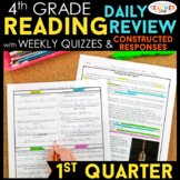 4th Grade Reading Spiral Review | Reading Comprehension Passages | 1st Quarter