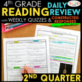 4th Grade Reading Spiral Review | Reading Comprehension Passages | 2nd Quarter