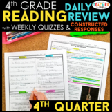 4th Grade Reading Spiral Review | Reading Comprehension Passages | 4th Quarter