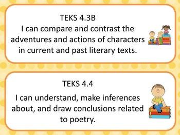 4th Grade Reading/ Language Arts TEKS I Can Statements