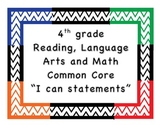I Can Statements 4th grade  4th grade I can statement Comm