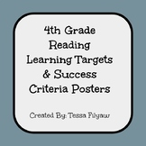 4th Grade Reading Learning Targets and Success Criteria Posters