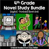 4th Grade Reading Level Novel Study Bundle Set 2