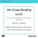 4th Grade Reading Level: Long Passage with Skill Building