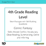 4th Grade Reading Level: Short Passages with Skill Buildin