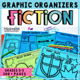 Reading Comprehension Fiction Graphic Organizers: Story Elements, Plot, & more!