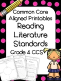 4th Grade Reading Literature Printables and Assessments (C