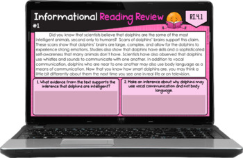 4th Grade Reading Review (Informational)