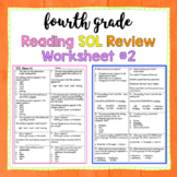 4th Grade Reading SOL Review Worksheet #2