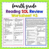 4th Grade Reading SOL Review Worksheet #3