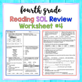 4th Grade Reading SOL Review Worksheet #4