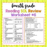 4th Grade Reading SOL Review Worksheet #6
