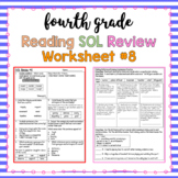 4th Grade Reading SOL Review Worksheet #8