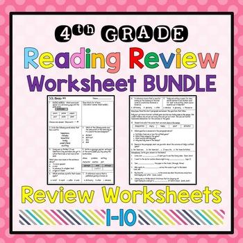 4th grade reading sol review worksheet bundle by samantha rife tpt. Black Bedroom Furniture Sets. Home Design Ideas