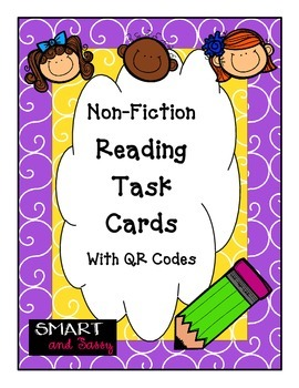 4th Grade Reading Non-Fiction Task Cards with QR Codes TEK