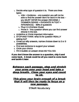 4th Grade Reading STAAR Test Study Guide
