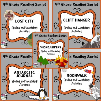 4th Grade Reading Series Spelling & Vocabulary (Unit 5 Bundle - Printable only)
