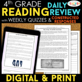 4th Grade Reading Spiral Review, Quizzes & Constructed Res