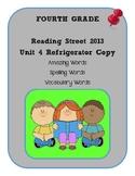 4th Grade Reading Street 2013 Unit 4 Refrigerator Copy