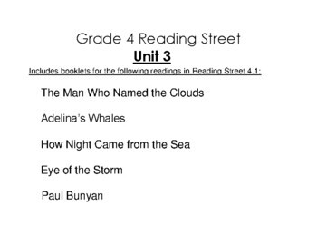 4th Grade Reading Street Activity Pack - Unit 3