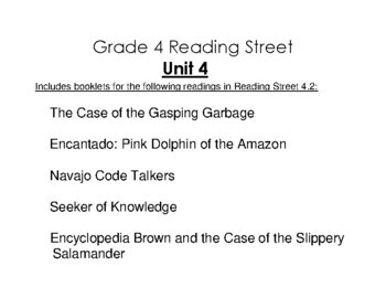 4th Grade Reading Street Activity Pack - Unit 4