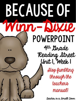 "4th Grade Reading Street ""Because of Winn-Dixie"" Powerpoint Presentation"