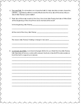 4th Grade Reading Street Close Reading Questions Unit 1 Week 1